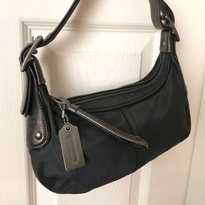 COACH Black Nylon Hobo Mini Bag